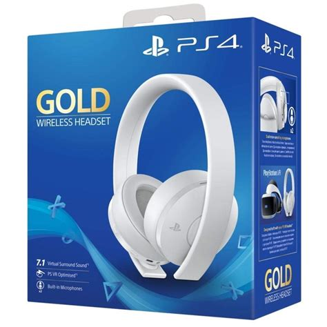 PlayStation 4 Gold Wireless Headset [White] - shop4fr