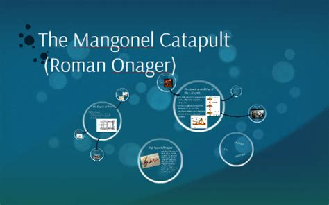 The Mangonel Catapult by Christine Wright