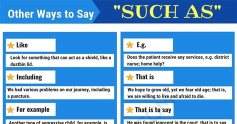 """Another Word for """"Such As"""" 