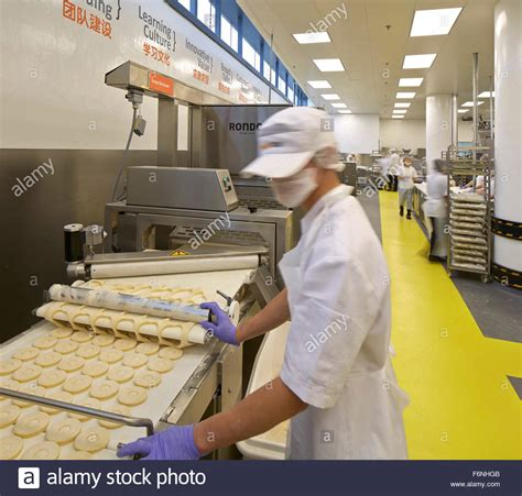 Industrial bakery with production line