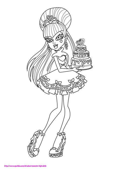 Monster High Coloring Pages 2018- Dr