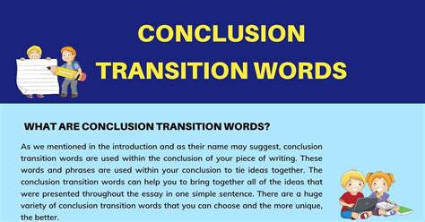 Conclusion Transition Words: Definition, List and Helpful