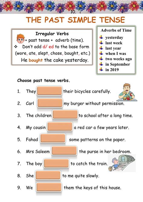 The Past Simple Tense interactive worksheet