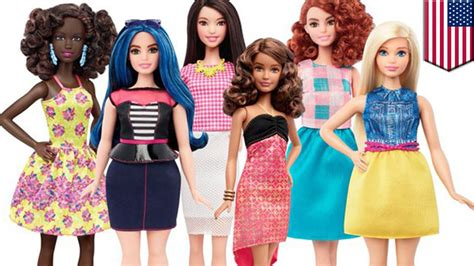 The new fat Barbie doll: Mattel releases new body types