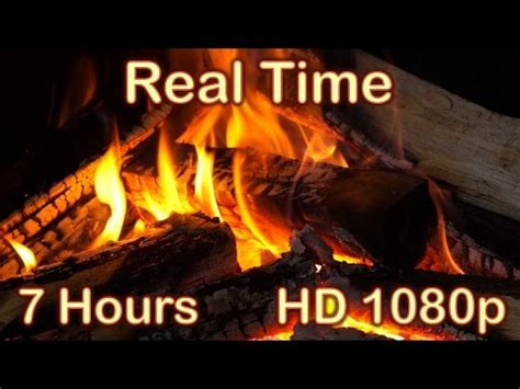 7 HOURS Fireplace Burning REAL TIME NO LOOP Fireplace
